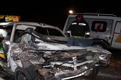 مرگ ۵ نفر در تصادف پیکان و کامیون
