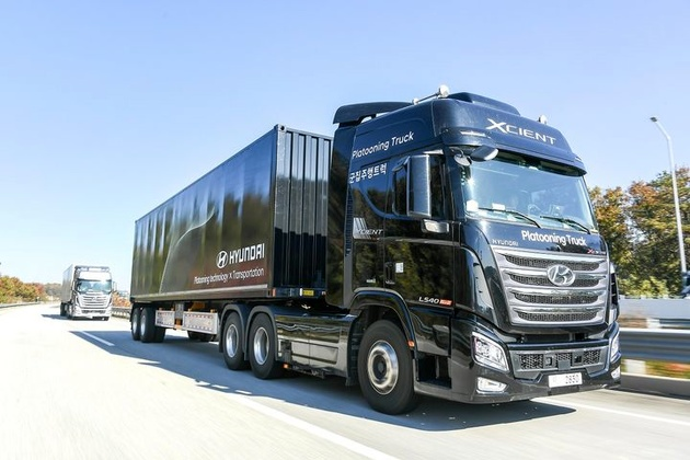 Hyundai Completes its First Successful Truck Platooning Trial