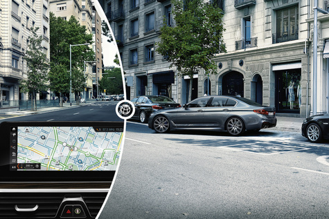 Inrix offers street parking service in connected BMW cars