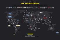 محبوبترین خودروسازیهای جهان در کشورهای مختلف کدامند؟ (اینفوگراف)