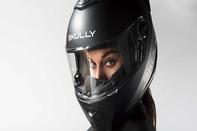 استفاده از لنز واقعیت افزوده در کلاه ایمنی موتورسواری