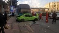 برخورد اتوبوس با ۷ دستگاه خودرو در ولنجک تهران یک کشته داشت
