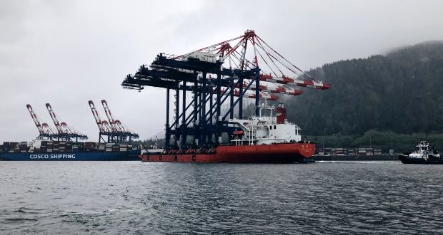 New large cranes enter Prince Rupert