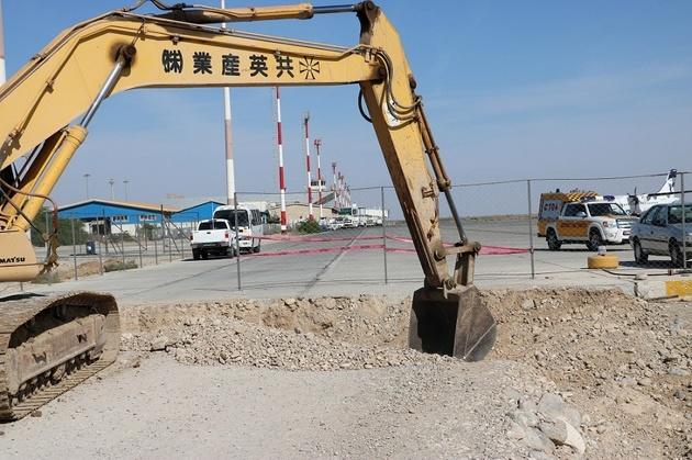 آغاز پروژه توسعه اپرون فرودگاه بینالمللی بندرعباس