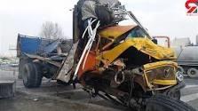 واژگونی یک دستگاه کامیون بنز