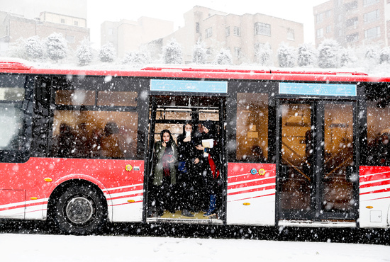تصاویر| برف و ترافیک تهران