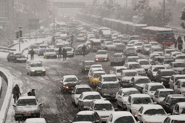 ترافیک نیمه سنگین در آزادراه قزوین_کرج_تهران