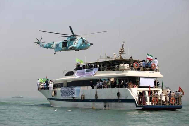 محل شهادت مسافران ایرباس ایران در آبهای خلیجفارس گلباران شد