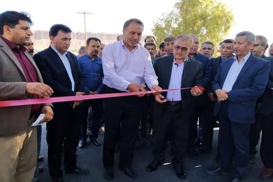 افتتاح جاده روستایی در خفر
