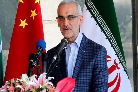 گزارش تصویری / مراسم ورود نخستین قطار باری چین به ایستگاه راه آهن تهران