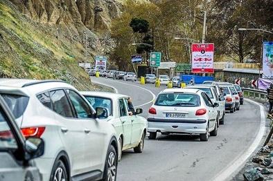 محدودیت ترافیکی روز عید غدیر در جاده کرج - چالوس