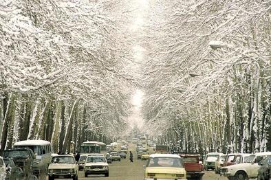 روز برفی خیابان ولیعصر در سال ۶۵