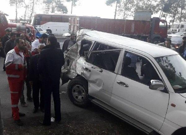 علت تصادف خودرو همراهان وزیر کار مشخص شد