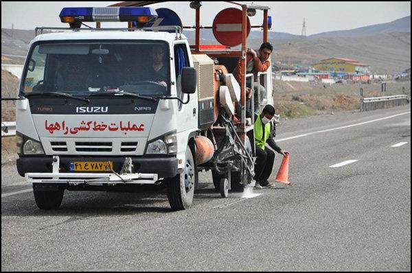۱۵۰۰ کیلومتر از راه های استان قزوین خط کشی میشود