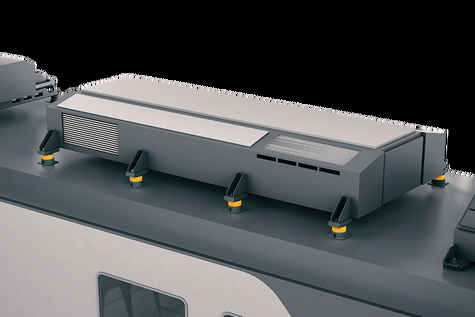 Reducing vibration from vehicle-mounted equipment