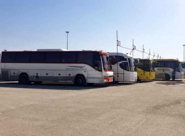 450 دستگاه اتوبوس مستقر در مرز شلمچه و چذابه