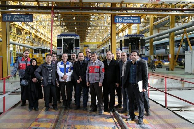 بازدید از روند ساخت بدنهها و مونتاژ نخستین رام پروژه 70 دستگاه واگن