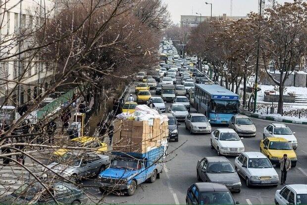 ترافیک پرحجم در محدوده جاجرود و گیلاوند
