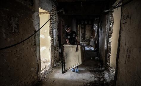 تخلیه ساختمان معروف به ۶ طبقه خرمشهر