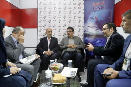 بازدید مدیرعامل شرکت بهرهبرداری مترو تهران از غرفه تین نیوز