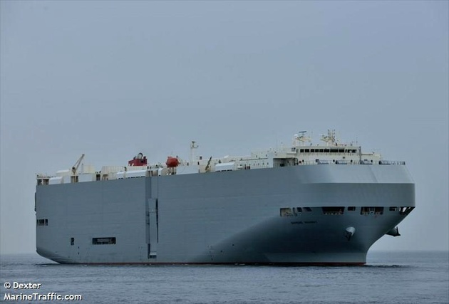 Reports: K-Line Car Carrier on Fire in South China Sea