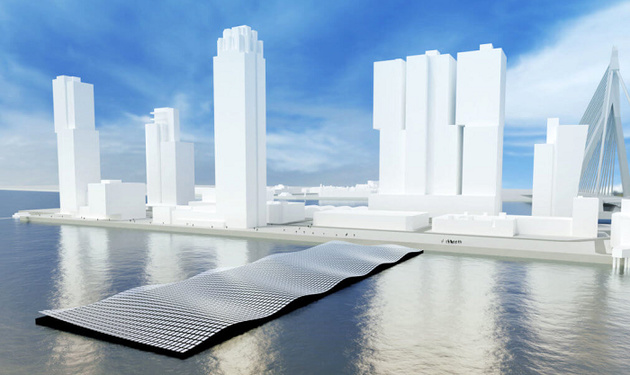 Rotterdam constructs a floating solar park in Rijnhaven
