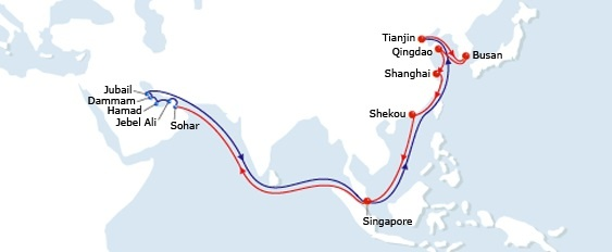 OCEAN ALLIANCE – CMA CGM to reshuffle its Asia-Middle East services