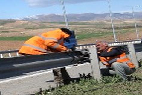 ایمنسازی محورهای تحت پوشش اداره راه و شهرسازی خنج