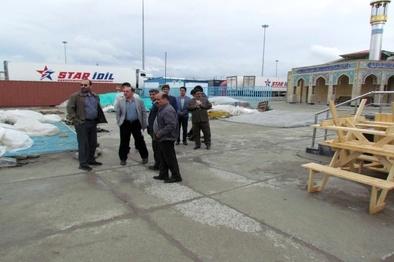 بازدید معاون دفتر فنی و بهره برداری راهداری از پایانه مرزی لطف آباد