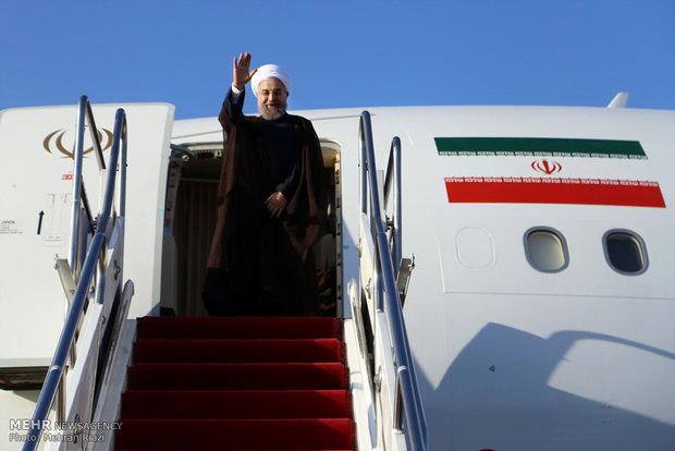 «روحانی» تهران را به مقصد پکن ترک کرد