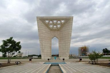 اجرای ورودی اصلی شهر قزوین در محل ورودی شمالی بلوار امامخمینی