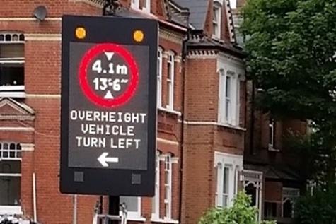 LED signs reduce bridge bashes