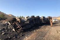 فیلم| آتشسوزی مرگبار یک کامیون در مرز باشماق