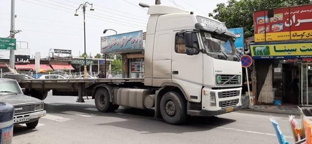 مزاحمت تردد کامیونها برای شهروندان رویان
