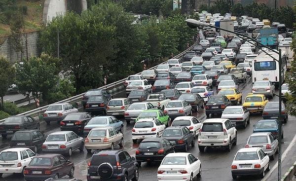 وضعیت ترافیکی پایتخت/ تردد از شرق به غرب سنگین است