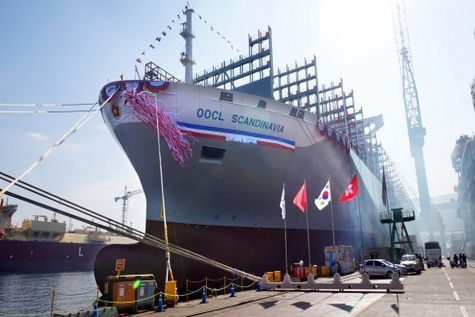 OOCL launches fifth 21,413 TEU container ship