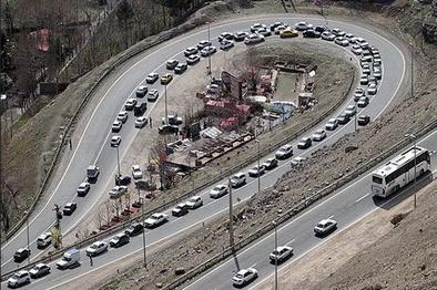 محدودیت ترافیکی در جاده کرج - چالوس اعمال می شود