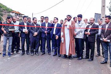 افتتاح و بهرهبرداری از عملیات آسفالت 4کیلومتر از راههای روستایی شهرستان چالوس