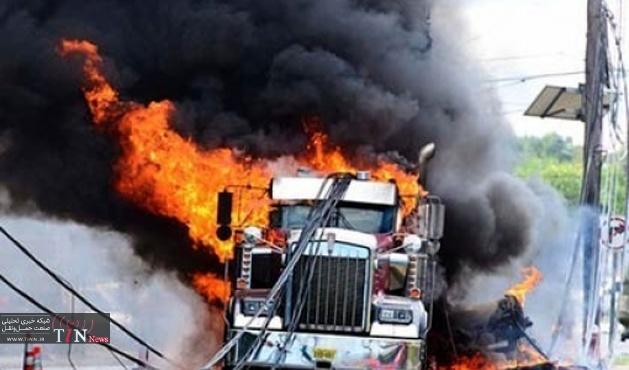 شجاعت راننده کامیون جان چند نفر را نجات داد