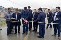 بهرهبرداری از پروژه آسفالت محور سیمین شهر-ناردانلی-گمیشتپه در گلستان