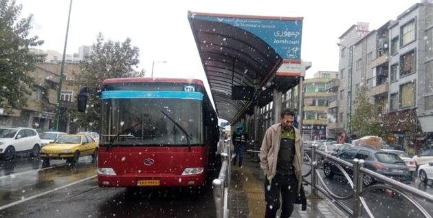 تجهیز اتوبوسهای شرکت واحد به زنجیر چرخ/ بررسی سیستم گرمایشی همه اتوبوسها