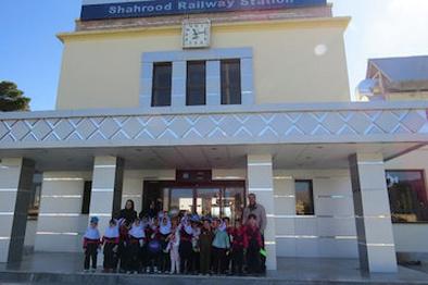 بازدید نو آموزان از ایستگاه راه آهن شاهرود