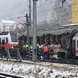برخورد دو قطار در اتریش ۴۰ زخمی در پی داشت
