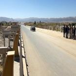تبدیل چهار آبنما به پل و روکش آسفالت در شهرستان بشرویه