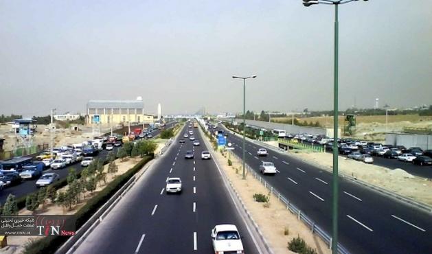 جدول وضعیت ترافیک راههای اصلی و فرعی استان تهران - ۳