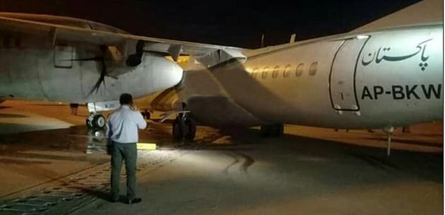 برخورد ایتیآر هواپیمایی پاکستان با هواپیمای زمینگیر