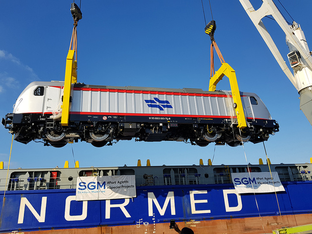 Electric locomotive arrives in Israel