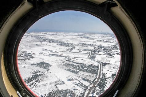 تصاویر هوایی از مناطق روستایی و ییلاقی مازندران پس از بارش سنگین برف