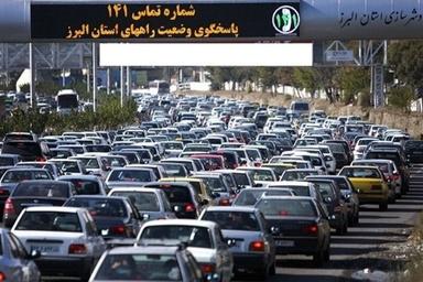 ثبت ۲۶۱ میلیون تردد خودرویی در راههای البرز