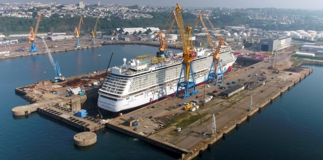 326-Meter Norwegian Breakaway Completes Dry Docking at Damen Shiprepair Brest